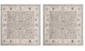 Safavieh Windsor Light Gray and Ivory 6' x 6' Square Area Rug