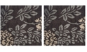 Safavieh Shag Dark Brown and Gray 4' x 4' Square Area Rug