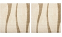 Safavieh Shag Cream and Dark Brown 5' x 5' Square Area Rug