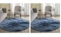 Safavieh Retro Light Blue and Blue 8' x 8' Round Area Rug