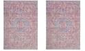 Safavieh Windsor Lavender and Fuchsia 6' x 6' Square Area Rug