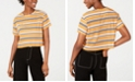 House of Polly Striped Cropped T-Shirt