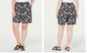 Karen Scott Plus Size Printed Drawstring Shorts, Created for Macy's