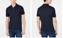 A|X Armani Exchange Men's Quarter-Zip Pinstripe Polo