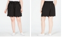 Monteau Trendy Plus Size Scalloped Shorts