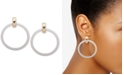 """DKNY Colored Drop Large 2"""" Hoop Earrings, Created for Macy's"""