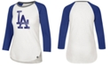 '47 Brand Women's Los Angeles Dodgers Splitter Raglan T-Shirt