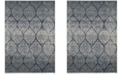 """Safavieh Madison Navy and Silver 6'7"""" x 9'2"""" Area Rug"""