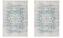 """Safavieh Madison Teal and Ivory 2'3"""" x 8' Runner Area Rug"""
