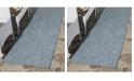 "Safavieh Courtyard Navy and Grey 2'3"" x 14' Sisal Weave Runner Area Rug"