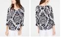 INC International Concepts INC Blouson-Sleeve Peasant Top, Created for Macy's