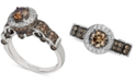 Le Vian Chocolatier® Diamond Halo Ring (1-1/4 ct. t.w.) in 14k White Gold