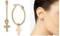 RACHEL Rachel Roy Gold-Tone Cross Hoop Earrings