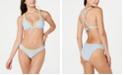 Lucky Brand Santa Margarita Bikini Top & Striped Embroidered Side-Shirred Hipster Bikini Bottoms