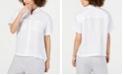 Eileen Fisher Button-Down Short-Sleeve Organic Linen Top