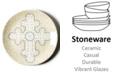 Coton Colors by Laura Johnson Cobble Neutral Cross Dessert Plate