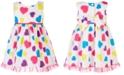 Blueberi Boulevard Baby Girls Colorful Heart-Print Dress