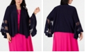 R & M Richards Plus Size Illusion-Trim Jacket