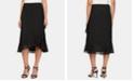 Alex Evenings Tulip-Hem Midi Skirt