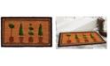 """Home & More Topiary 17"""" x 29"""" Coir/Vinyl Doormat"""