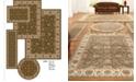 KM Home Area Rug Set, Vienna Collection 5 Piece Set Meshed Sage