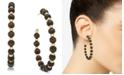 INC International Concepts I.N.C. Gold-Tone Wood Bead Large Hoop Earrings , Created for Macy's