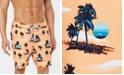 "Club Room Men's Sunset Quick-Dry 7"" Swim Trunks, Created for Macy's"