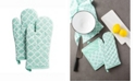 Design Imports Lattice Oven Mitt Set of 2