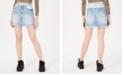 Dollhouse Juniors' Two-Tone Jean Skirt