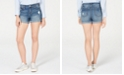 Vanilla Star Juniors' Mid-Rise Cuffed Jean Shorts