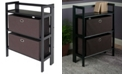 Winsome Torino 3-Pc Set Folding Bookcase with Fabric Basket