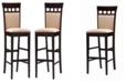"Coaster Home Furnishings Alton 30"" Upholstered Panel Back Bar Stools (Set of 2)"