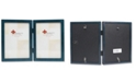 """Lawrence Frames Hinged Double Blue Wood Picture Frame - Gallery Collection - 5"""" x 7"""""""