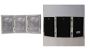 """Lawrence Frames Polished Silver Plate Hinged Triple Picture Frame - Bead Border Design - 5"""" x 7"""""""