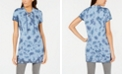Ideology Tie-Dyed Lace-Up Tunic, Created for Macy's