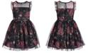 Pink & Violet Big Girls Printed Mesh Dress