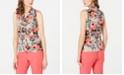 Calvin Klein V-Neck Printed Blouse