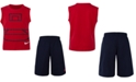 Nike Little Boys 2-Pc. Basketball Court Muscle T-Shirt & Mesh Shorts Set