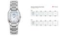 Citizen Women's Eco-Drive Signature Fiore Diamond Accent Stainless Steel Bracelet Watch 26x24mm EX1190-58D