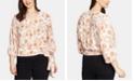 1.STATE Plus Size Floral-Print Wrap Blouse