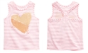Epic Threads Toddler Girls Striped Heart-Print Tank Top, Created for Macy's