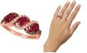 Le Vian Passion Ruby (1-1/4 ct. t.w.), Vanilla Diamonds® (1/5 ct. t.w.) & Chocolate Diamonds® (1/5 ct. t.w.) Statement Ring in 14k Rose Gold