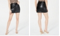 Material Girl Juniors' Faux-Leather Mini Skirt, Created for Macy's