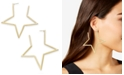 Thalia Sodi Gold-Tone Star Extra Large Hoop Earrings , Created for Macy's
