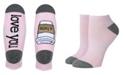 SOCK TALK Ladies' Low Cut Socks LOVE YOU A LATTE