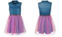 Bonnie Jean Toddler Girls Denim Rainbow Dress