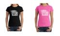 LA Pop Art Women's Word Art T-Shirt - Pug Face