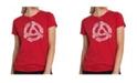 LA Pop Art Women's Premium Word Art T-Shirt - Record Adapter