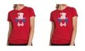 LA Pop Art Women's Premium Word Art T-Shirt - The Mad Hatter