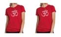 LA Pop Art Women's Premium Word Art T-Shirt - Poses Om